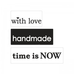 Reliéfní podložky: with love, handmade, time is NOW