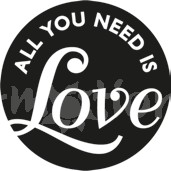 Reliéfní podložka: All you need is Love